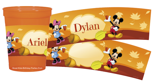 Mickey Thanksgiving Printables at KidsPartyWorks.Com