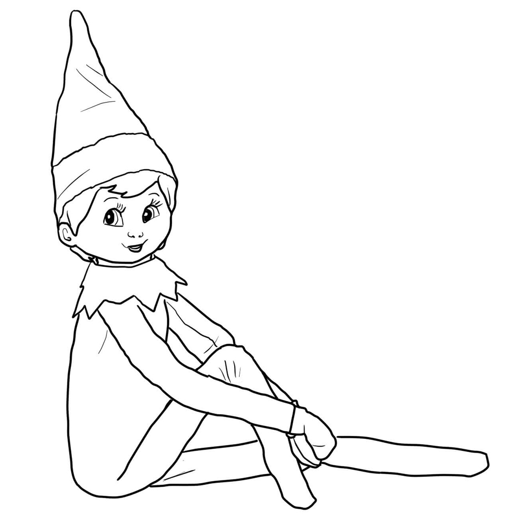 Elf on the Shelf Christmas Coloring Pages. KidsPartyWorks.Com