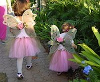 fairy girls in pink costume hunting