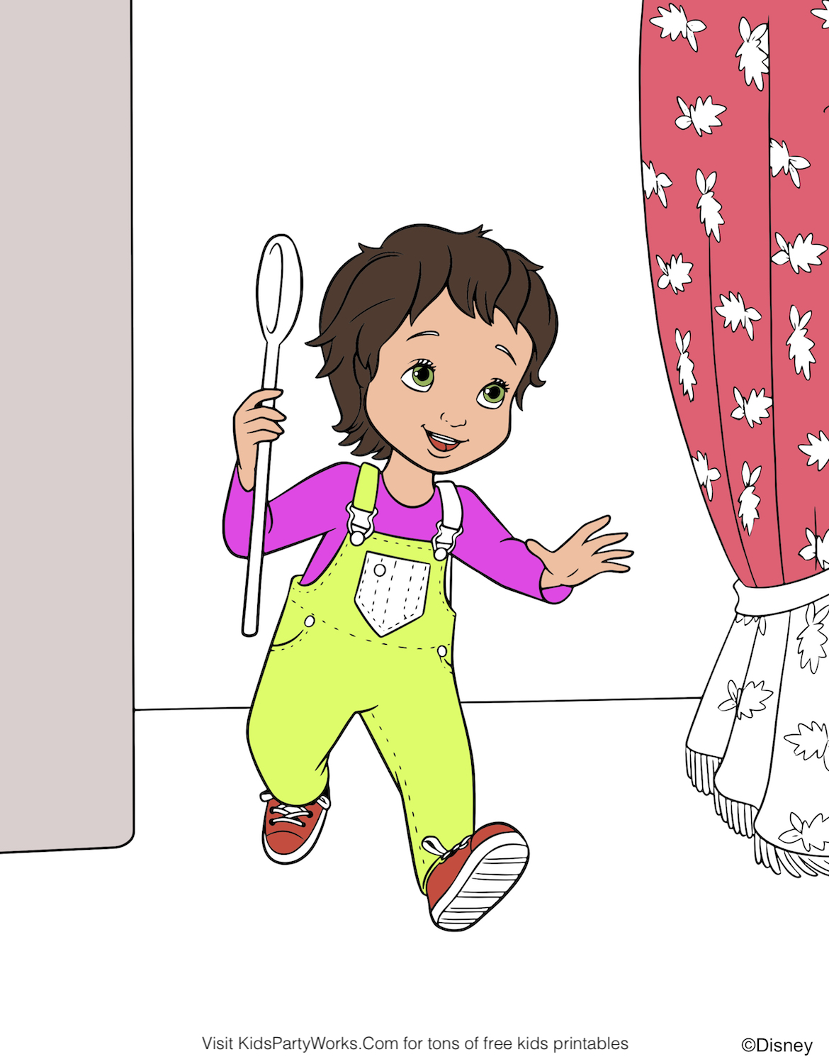 Fancy Nancy Coloring Pages | Fancy Nancy Curtseying coloring page ... | 1500x1170