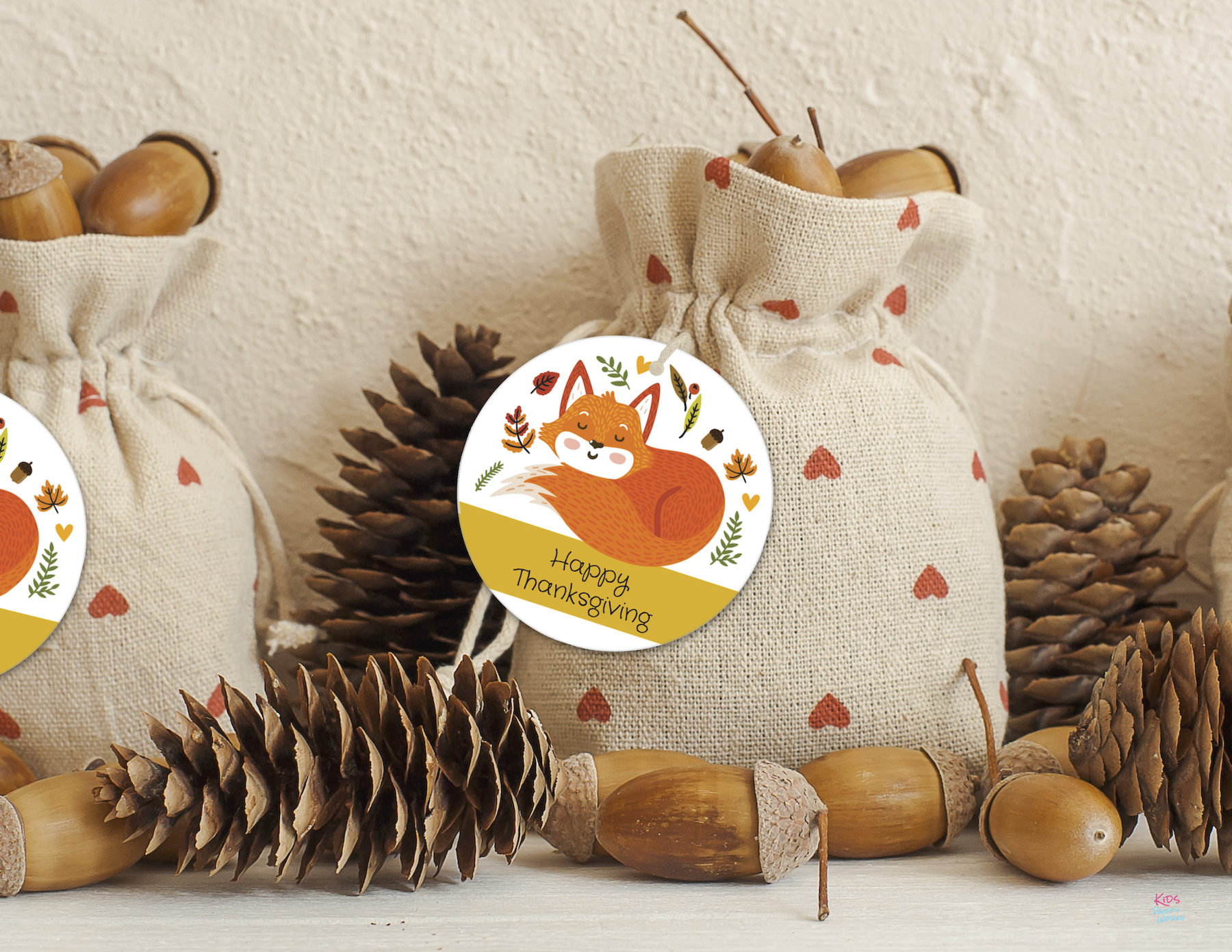 Free Happy Thanksgiving Tags by KidsPartyWorks.Com