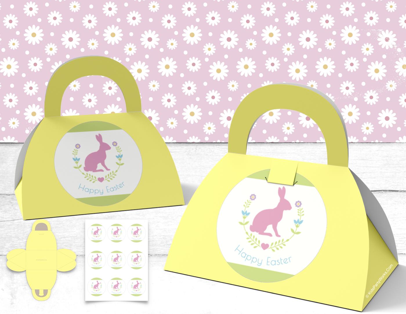 Free Easter Favor Bag & Sticker Set. KidsPartyWorks.Com