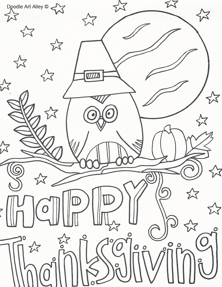 - Thanksgiving Coloring Pages