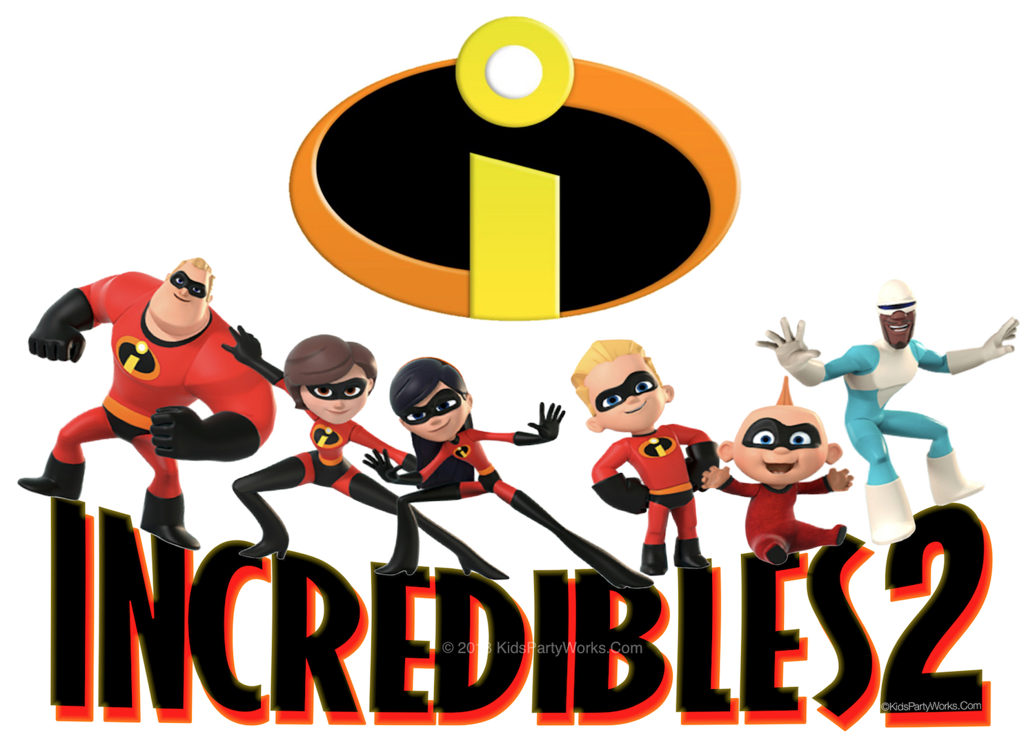 The Incredibles font and Incredibles 2 font are the same but still so much fun. Create cool party printables like Incredibles invitation, Incredibles cake topper, cupcake toppers, bottle labels.