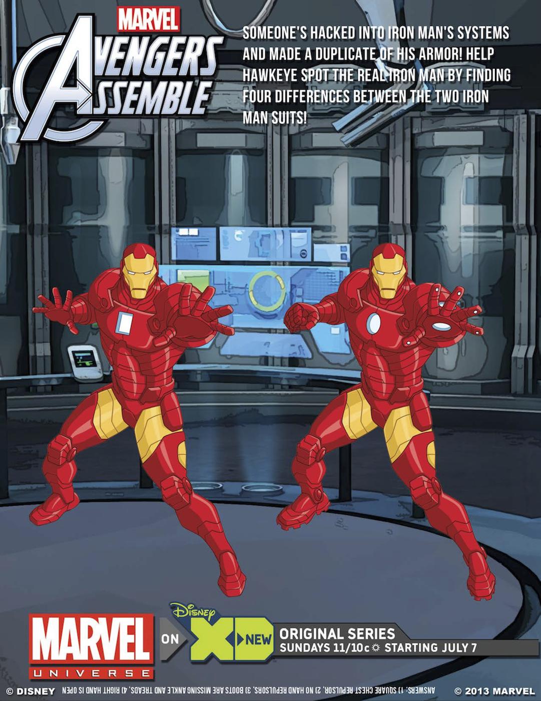 Avengers Printable Game