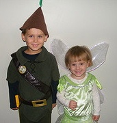 kids in tink/peter pan costume