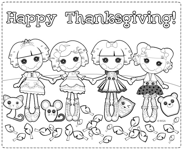 Lalaloopsy Thanksgiving Coloring Pages at KidsPartyWorks.Com
