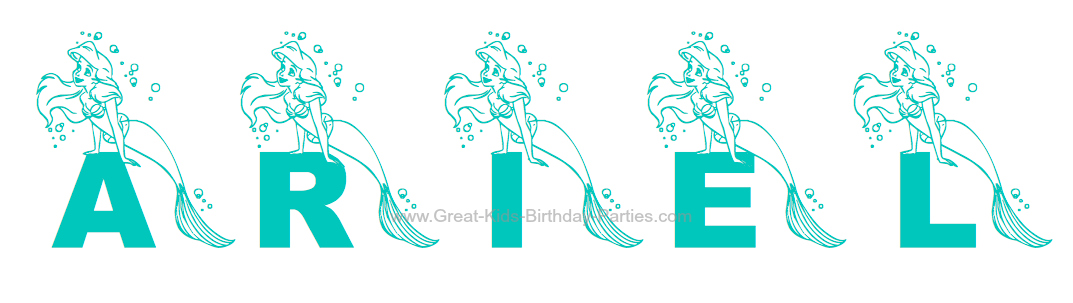 Little Mermaid Font, Ariel Font