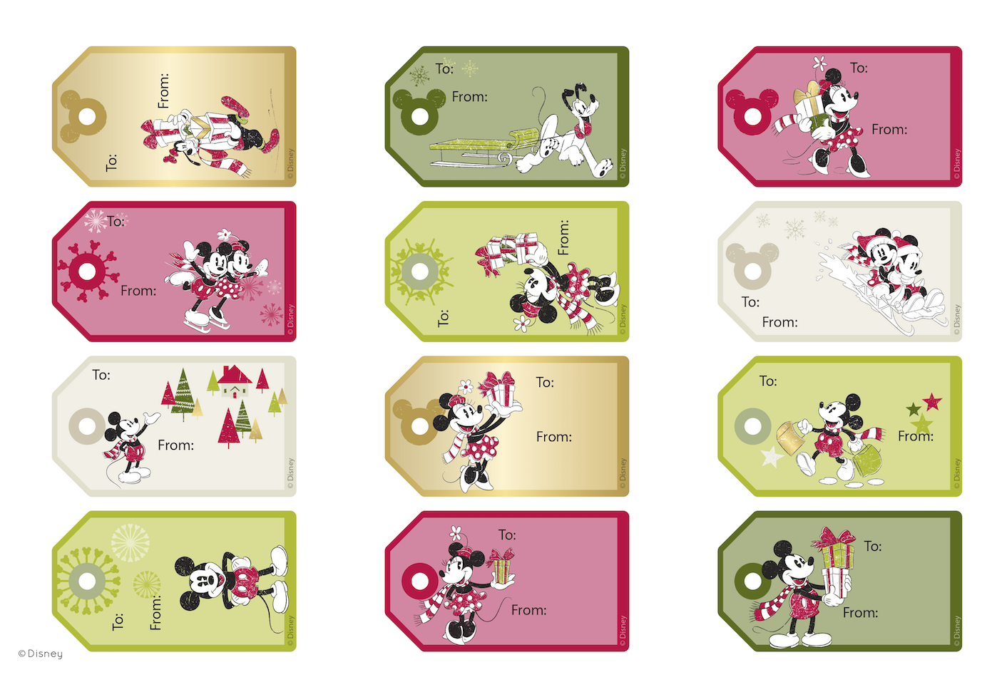 Mickey Christmas Tags
