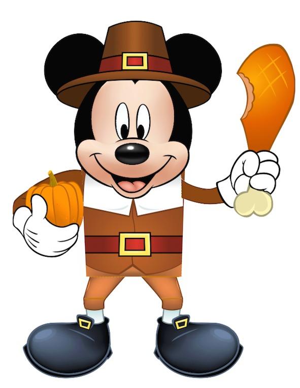 Mickey Thanksgiving Treat Box at KidsPartyWorks.Com
