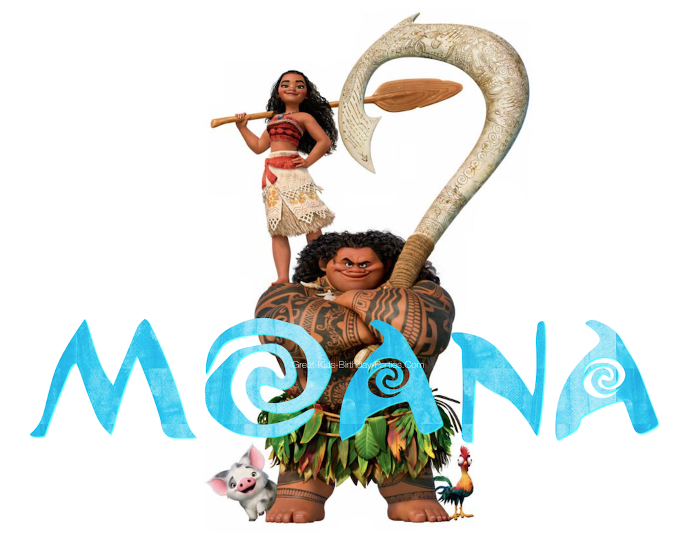 Moana font for Moana birthday party printables.