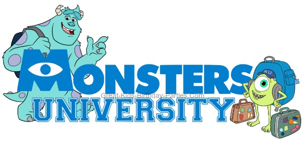FREE Monsters University FONT – Download this free font and use to make invitations, decorations, party labels, stickers, water bottle labels, name tags and lots more.  Over 60 FREE Disney Fonts here.
