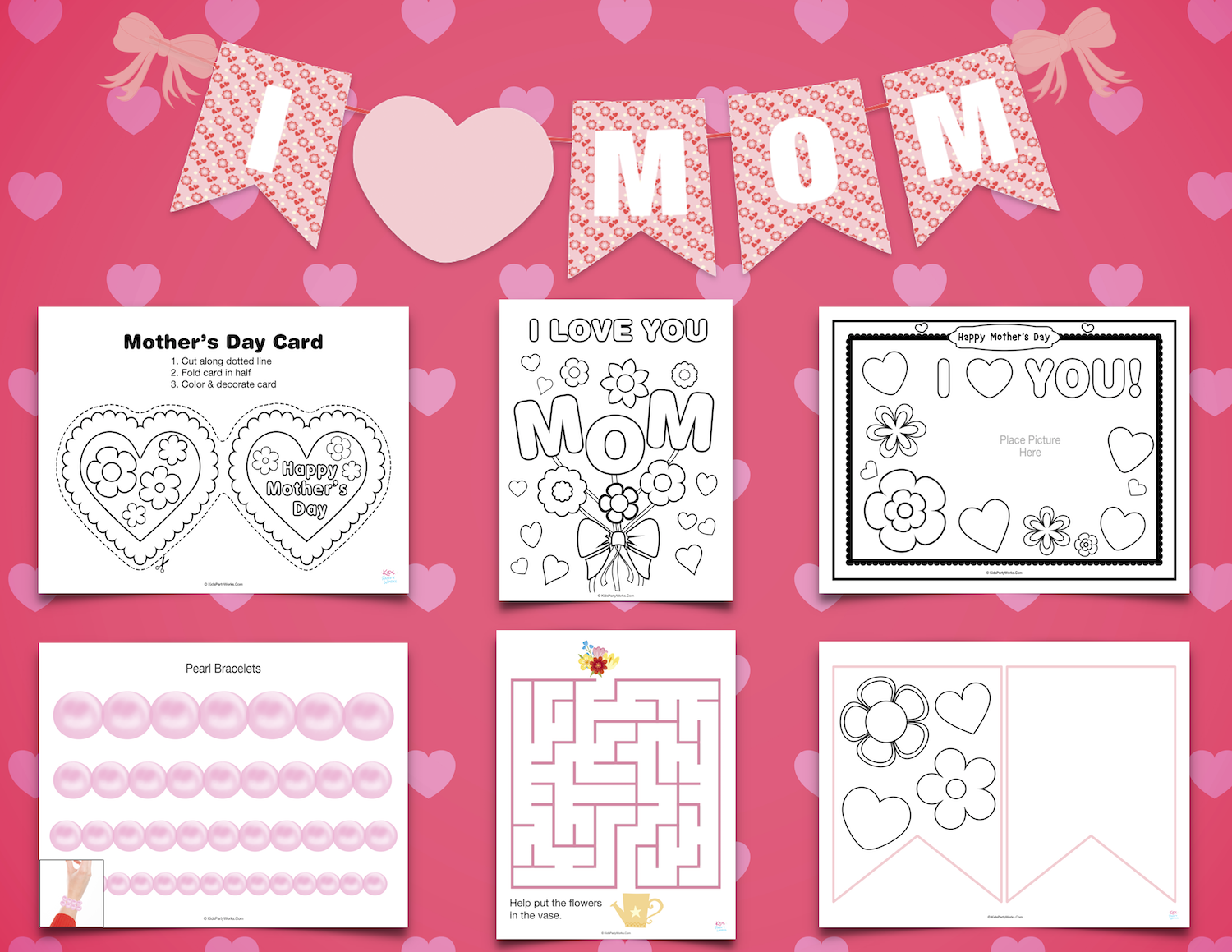 Mother's Day Printables for Kids. KidsPartyWorks.Com