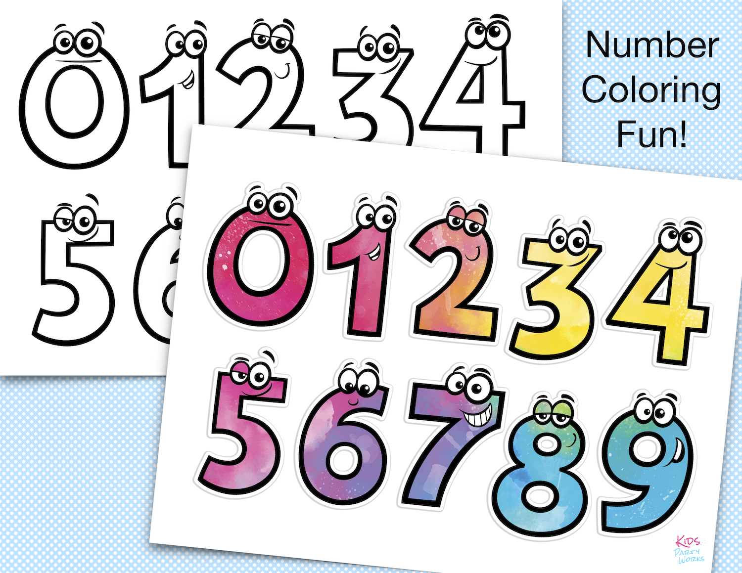 Printable Coloring Numbers