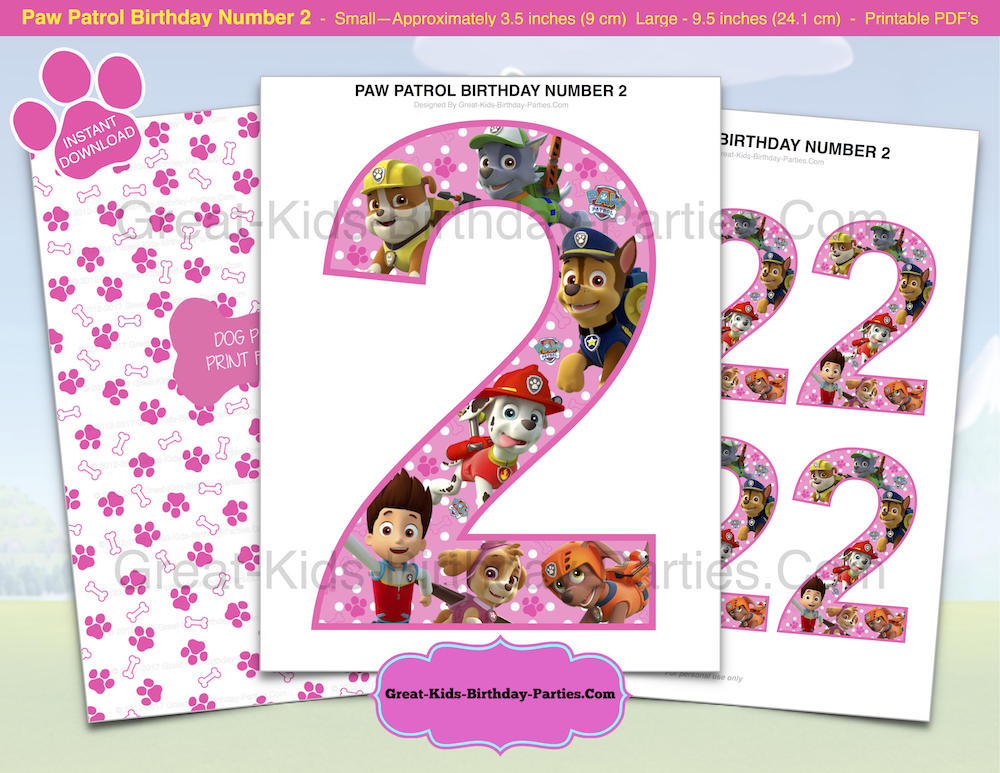Come Check Out Our New Printable Paw Patrol Birthday Decoration At Etsy Store