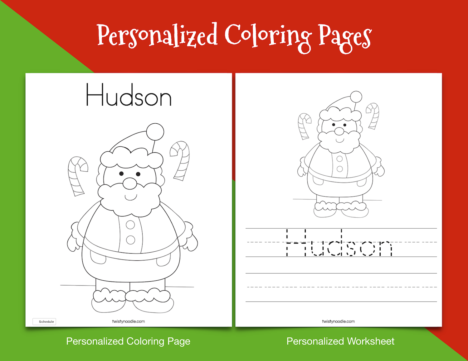 Personalized Christmas Coloring Pages.