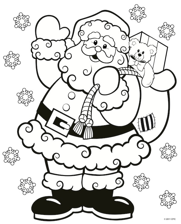 Christmas Tree Coloring Pages | Santa coloring pages, Christmas ... | 744x600