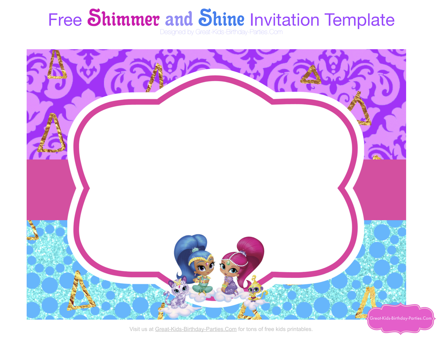 Shimmer and shine party shimmer and shine invitation template stopboris Gallery