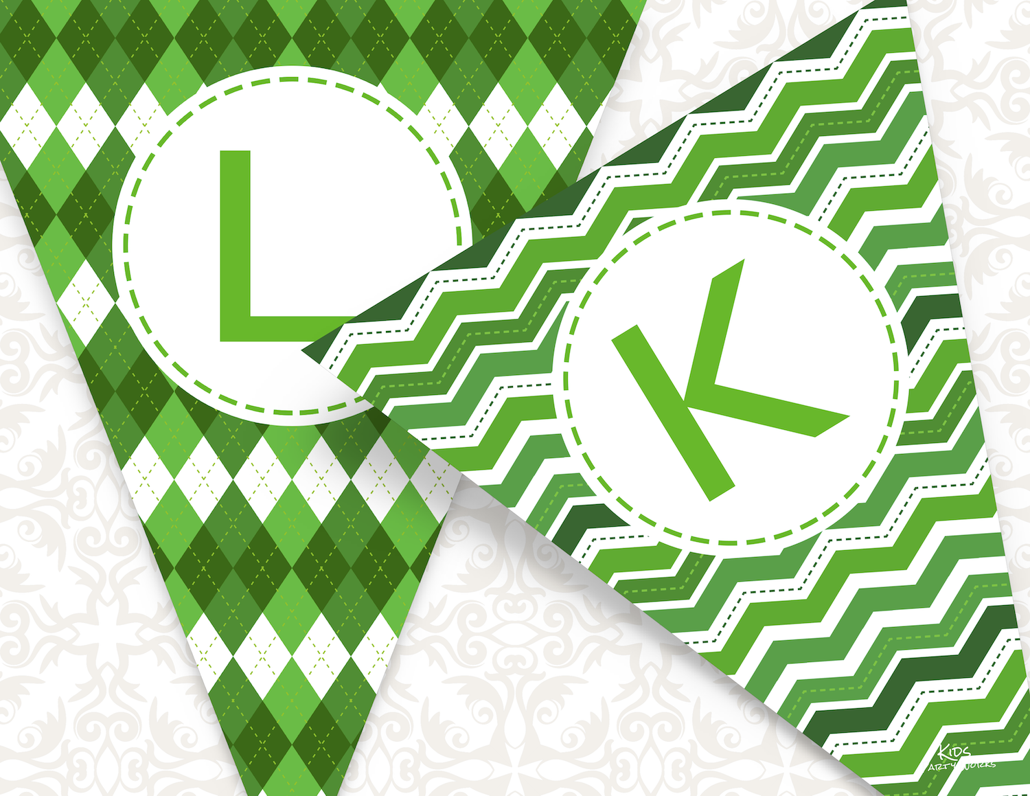 Free Printable St. Patrick's Day Banner from KidsPartyWorks.Com