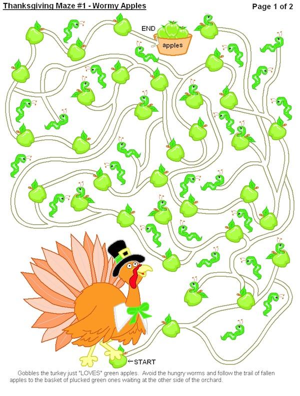 Printable Thanksgiving Maze