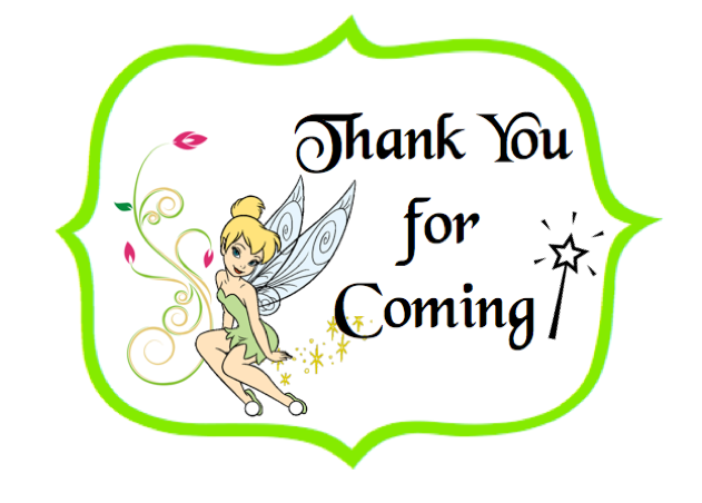 Tinker Bell party labels