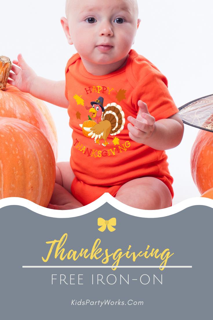 Thanksgiving Shirt Iron-On Toddler