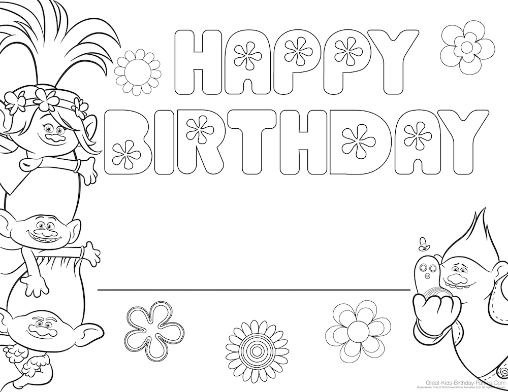 Trolls Coloring Page Refrence Biggie Mr Dinkles Prince Child Can Write Their Name On The Line Color And Celebrate With Poppy Guy Diamond Branch