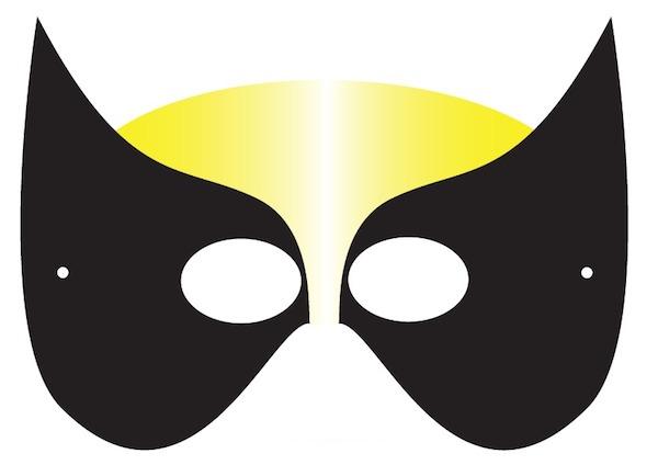 photograph regarding Batgirl Mask Printable named Printable Halloween Masks